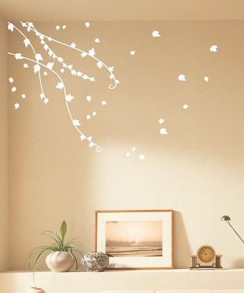 White Climbing Ivy Wall Decal Set
