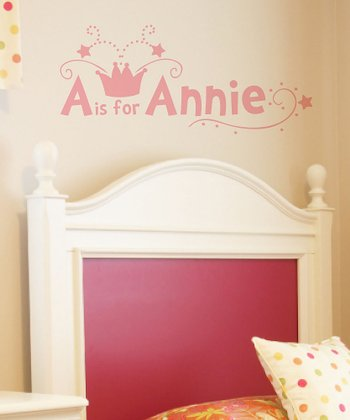 Carnation Crown Personalized Wall Decal