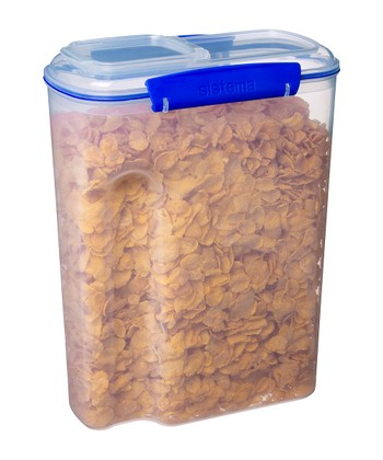 Blue 142-Oz. KLIP IT Cereal Container