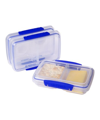 Blue 11.8-Oz. KLIP IT Split Container - Set of Three