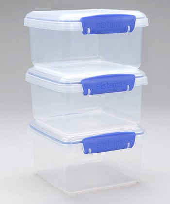 Clear & Blue KLIP IT Lunch Plus Container - Set of Three