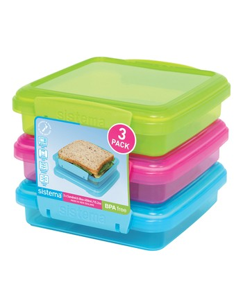Color Block KLIP IT To Go Sandwich Box - Set of Three