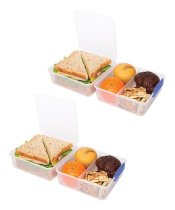 Blue Lunch Cube Container - Set of Two