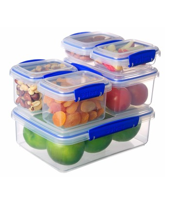Blue Six-Piece KLIP IT Container Set