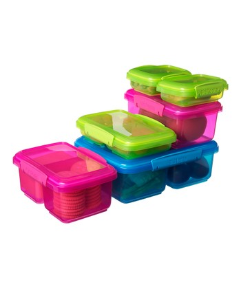 Pink & Green KLIP IT Container Set