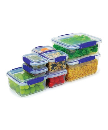 Blue Eight-Piece KLIP IT Container Set