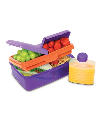 Purple 50-Oz. Slimline Quaddie Lunch Box & Water Bottle