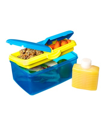Blue 93-Oz. KLIP IT Quaddie Lunch Box & Water Bottle