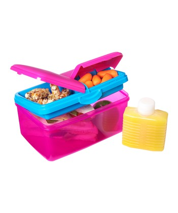 Pink 93-Oz. KLIP IT Quaddie Lunch Box & Water Bottle