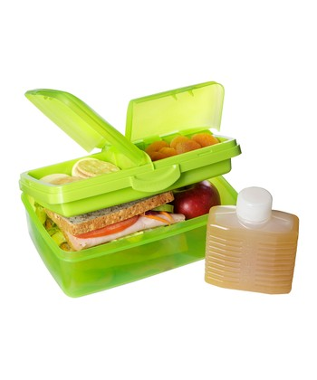 Green 50-Oz. Slimline Quaddie Lunch Box & Water Bottle