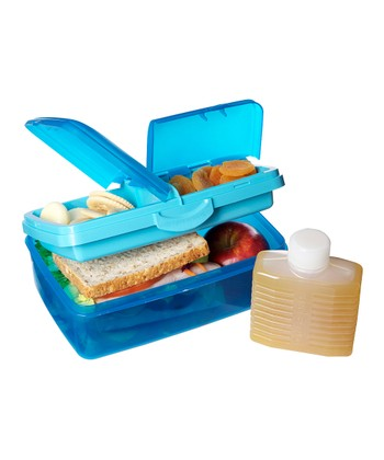 Blue 93-Oz. Quaddie Lunch Box Set