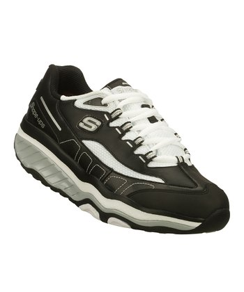 Black & White Shape-Ups Evolution Walking Shoe - Women