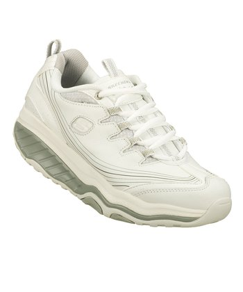 White & Silver Shape-Ups Evolution Walking Shoe - Women