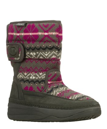 Pink & Gray Chalet Tone-Up Boot