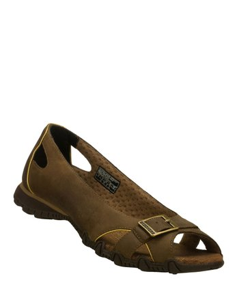 Brown Bikers Flat - Women