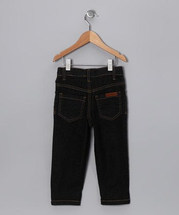 Black Denim Slim Jim Jeans - Toddler