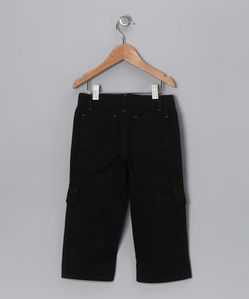 Black Utility Cargo Pants - Toddler
