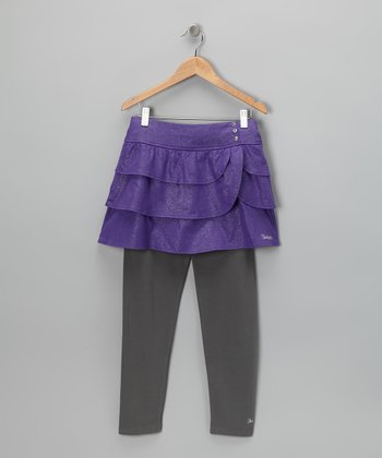 Prism Violet Glitter Skirt & Leggings