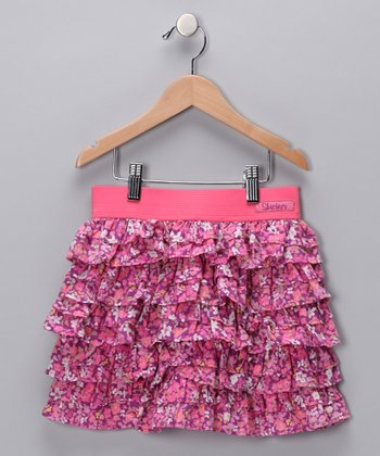 Pink Lemonade Ruffle Skirt - Girls