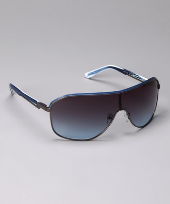 Dark Gunmetal 8018 Shield Sunglasses