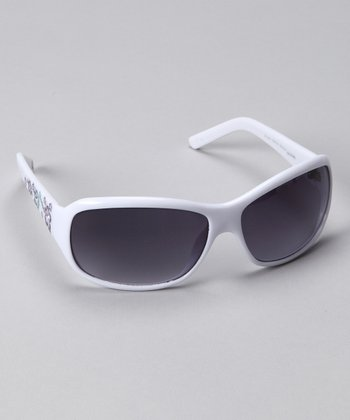 White Floral 4024 Sunglasses