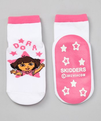 Pink Dora Gripper Socks