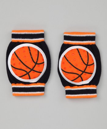 Blue & Orange Basketball Gripper Knee Pads