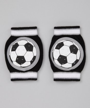 Black Soccer Gripper Knee Pads