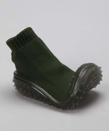 Dark Green Crystal Gripper Shoe