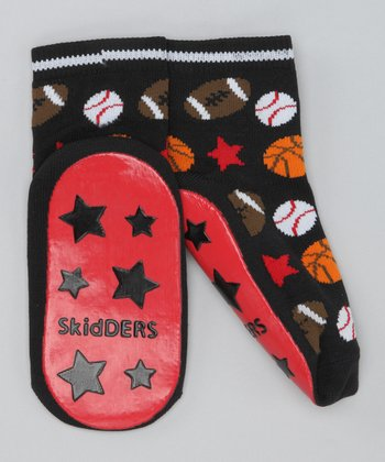 Black Sports Gripper Socks