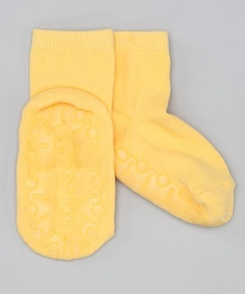 Yellow Crystal Gripper Socks