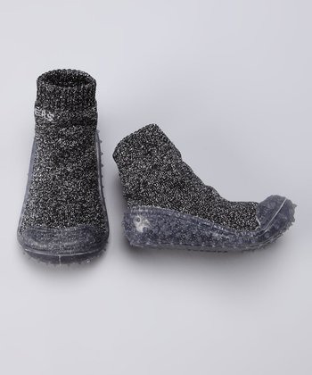Black Sparkle Gripper Shoe