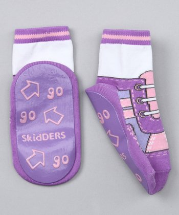 Purple Sneaker Gripper Socks