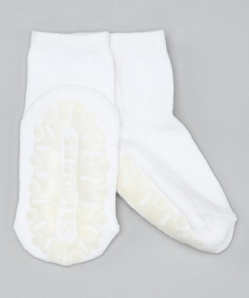 White Crystal Gripper Socks