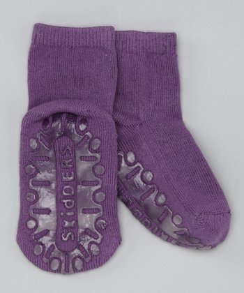 Purple Crystal Gripper Socks