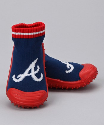 Atlanta Braves Gripper Shoe - Kids