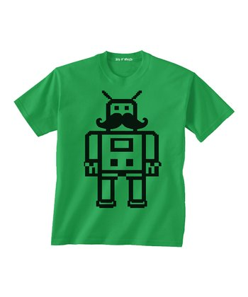 Kelly Green Mustache Tee - Toddler & Boys