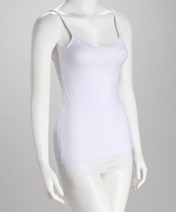 White Lace Shaper Camisole - Women & Plus