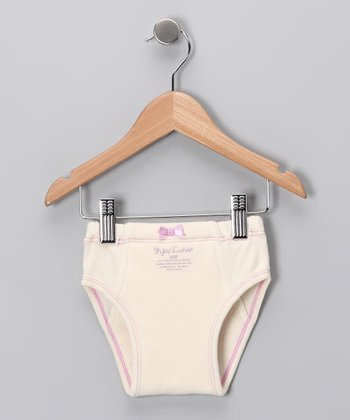 Off-White Bow Organic Underwear - Infant & Toddler