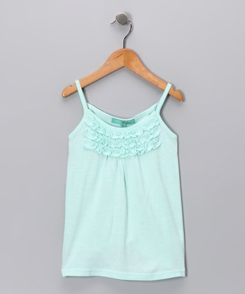 Aqua Ruffle Tank - Toddler & Girls