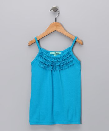 Blue Ruffle Tank - Toddler & Girls
