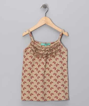 Khaki Peacock Tank - Toddler & Girls