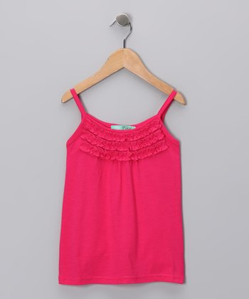 Pink Ruffle Tank - Toddler & Girls