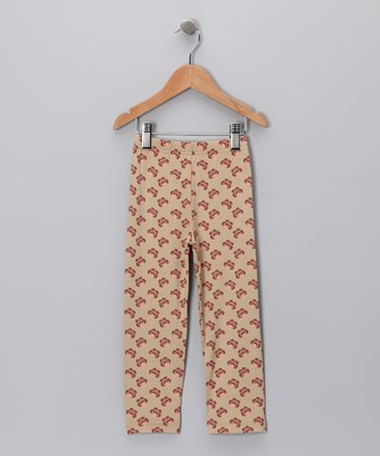 Khaki Peacock Leggings - Toddler & Girls