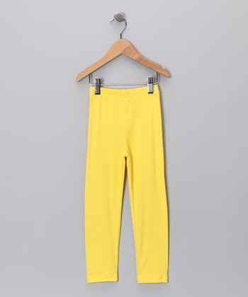 Yellow Leggings - Toddler & Girls