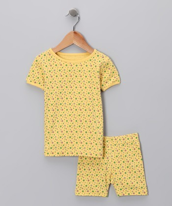 Yellow Organic Pajama Top & Shorts - Infant, Toddler & Kids
