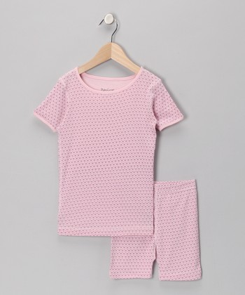 Pink Organic Pajama Top & Shorts - Infant, Toddler & Girls
