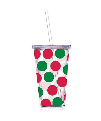 Red & Green Polka Dot 24-Oz. Tumbler