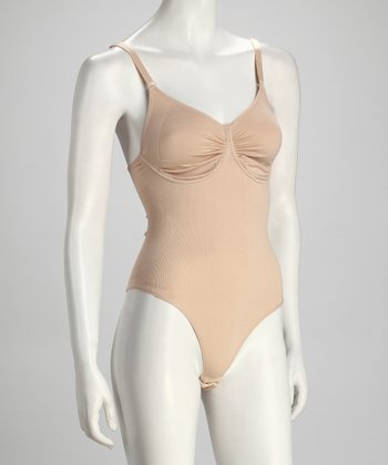Nude Underwire Thong Bodysuit - Women