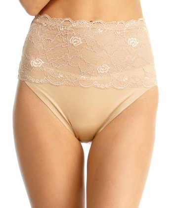 Nude Lace High-Waist Brief - Women